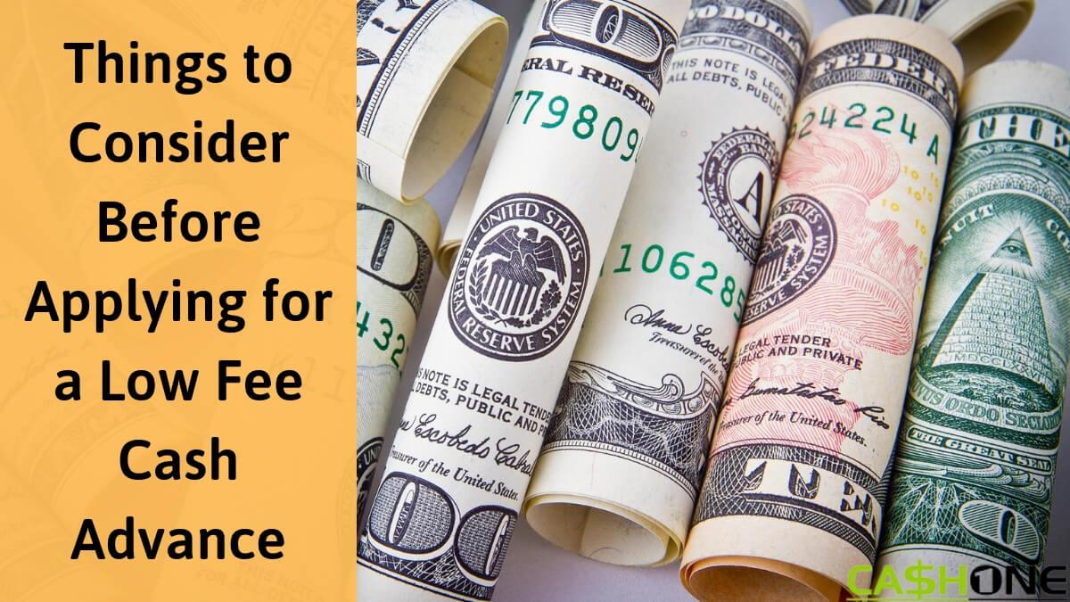 Low Fee Cash Advance