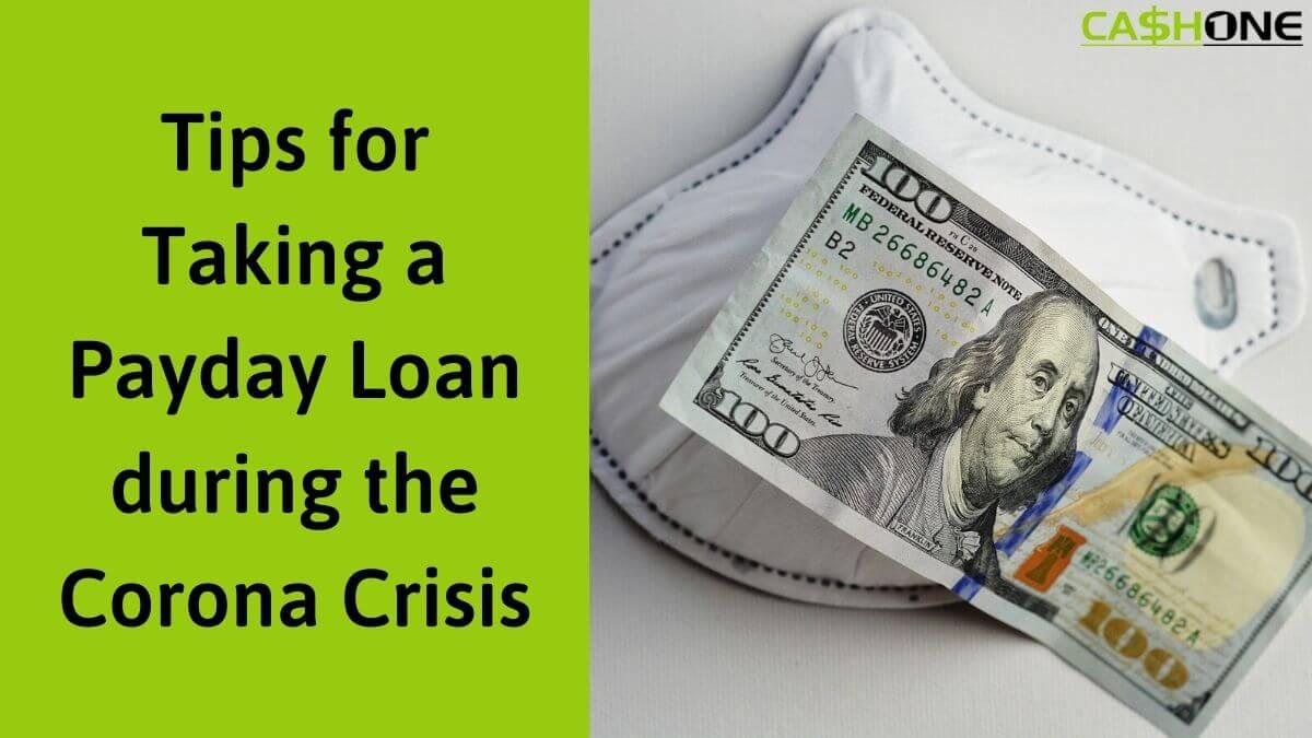 Payday Loan Tips During Corona Crisis