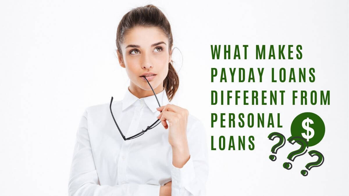 How payday loans are different from personal loans