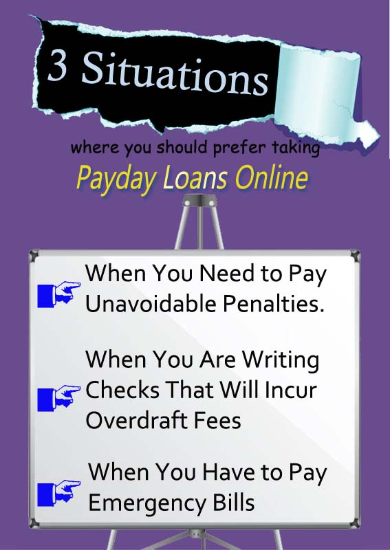 Situations where you prefer Online Payday Loans