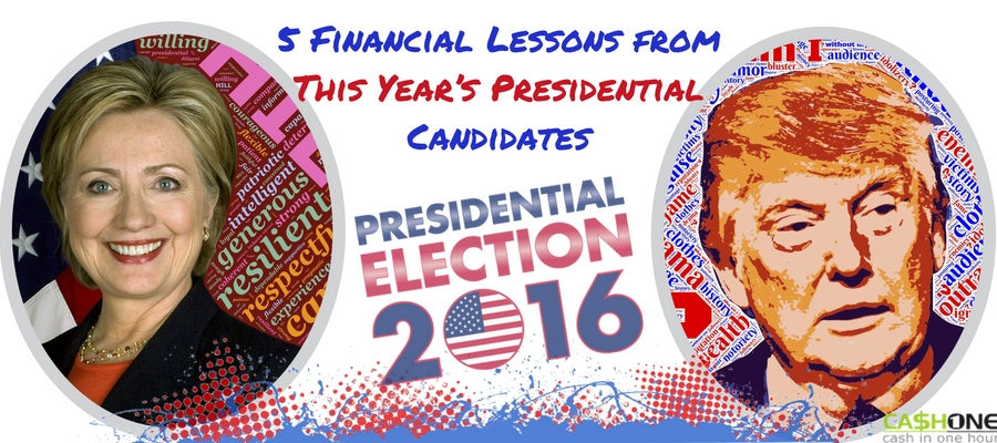 5 financial lessons from this year's presidential candidates